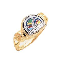 Available in and gold and white gold. Rainbow Logo, Rainbow Sky, Over The Rainbow, Masonic Order, Jobs Daughters, Rainbow Things, Masonic Lodge, Women's Rings, Eastern Star