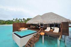 This is unreal! Private cabana in Bora Bora.