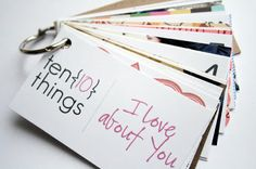 The Creative Place: DIY Tuesday: Ten Things I Love About You - Gift Idea