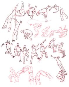 Fancy angles and quite correct movements? Drawing parkour can be tricky sometimes. I mean, doing it irl is a little harder. Human Figure Drawing, Figure Drawing Reference, Animation Reference, Art Reference Poses, Jump Animation, Movement Drawing, Gesture Drawing, Drawing Poses, Parkour
