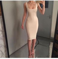 i want a nude dress i can pair with nude shoes Tight Dresses, Sexy Dresses, Cute Dresses, Beautiful Dresses, Casual Dresses, You're Beautiful, Cute Casual Outfits, Sexy Outfits, Fashion Outfits