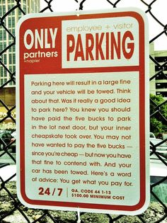 Ad Agency Creates Passive-Aggressive Parking Signs - DesignTAXI.com