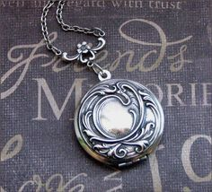 Silver Locket Necklace - Enchanted Immortal Love - Jewelry by TheEnchantedLocket - BEAUTIFUL Anniversary Wedding Bride Gift