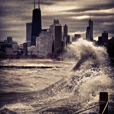 sandy hits chicago / krstype