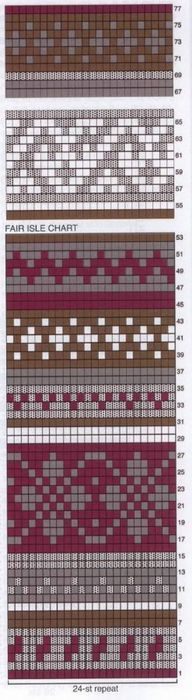Trendy Ideas For Knitting Fair Isle Pattern Tapestry Crochet Fair Isle Knitting Patterns, Knitting Charts, Loom Patterns, Loom Knitting, Knitting Designs, Knitting Stitches, Knitting Ideas, Tejido Fair Isle, Fair Isle Chart