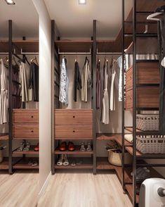 7 Luxurious Walk-In Closets – Custom Closet Design Ideas Custom Closet Design, Walk In Closet Design, Bedroom Closet Design, Master Bedroom Closet, Custom Closets, Wardrobe Design, Closet Designs, Interior Design Living Room, Bedroom Decor