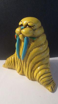 Vintage 1960's Psychedelic Chalkware Bank I Am The Walrus Goo Goo Goo Joob Japan | eBay