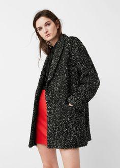 Flecked wool-blend coat - Coats for Woman | MANGO USA