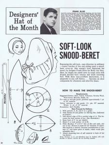 soft-look snood beret