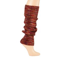 Marled Ribbed Knit Leg Warmers