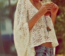 Inspiring picture fashion, girl, jean, lace. Resolution: 489x380 px. Find the picture to your taste!