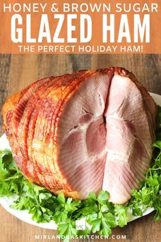This is a show stopping holiday ham recipe! Delicious roasted ham covered in a brown sugar honey glaze with just a hint of warming spices. Even a novice cook can bake an excellent ham with this simple recipe. All the tips you need to pick out a great ham are included. Easy Ham Glaze, Holiday Recipes, Dinner Recipes, Christmas Recipes, Dinner Ideas, Holiday Ham, Christmas Meals, Entree Recipes, Holiday Baking
