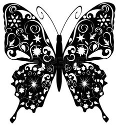 floral butterfly Stock Vector