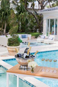 Pool Side Champagne