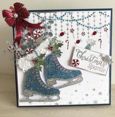 Stamps by Chloe - Christmas Sparkle - - Christmas Stamps by Chloe - Chloes Creative Cards Chloes Creative Cards, Creative Christmas Cards, Christmas Card Crafts, Christmas Greeting Cards, Christmas Greetings, Holiday Cards, Teal Christmas, Christmas 2019, Christmas Ideas