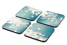 Abstract art Coaster set wooden nautical decor photography coaster set bokeh photography set of 4 coasters drink home decor kitchenware on Etsy, $27.00