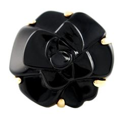 CHANEL Camellia Ring | From a unique collection of vintage fashion rings at http://www.1stdibs.com/jewelry/rings/fashion-rings/