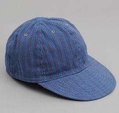 CA1-102 - INDIGO / RED STRIPE BALL CAP :: HICKOREE'S