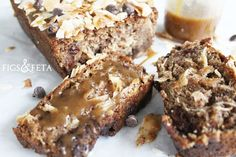 Toasted Almond and Coconut Bread with Browned Honey Butter - Figs & Feta