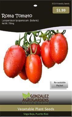 Tomato: Roma Tomato Seeds Packet