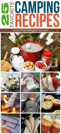 25 Favorite Camping Recipes- oooh, these look delicious!