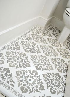 Floor stencilled with the Kota and Neemrana stencils. nicolettetabram.c... #stencils #nicolettetabramstencils #paintedfloors