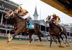 Rosie Napravnik rides Believe You Can to victory in the 138th running of the Kentucky Oaks horse race at Churchill Downs Friday, May 4, 2012, in Louisville, Ky. She is the first female jockey to win The Oaks.
