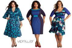 moda tallas grandes vipmujer azul