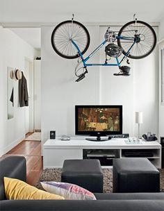 Jurnal de design interior - Amenajări interioare : 20 de soluții pentru depozitarea bicicletei