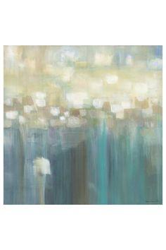 """Karen Lorena Parker """"Aqua Light"""" Embellished Giclee on Stretched Canvas - 36"""" x 36"""""""