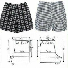 Dress Sewing Patterns, Sewing Patterns Free, Clothing Patterns, Fashion Patterns, Pattern Sewing, Sewing Tutorials, Sewing Projects, Sewing Shorts, Sewing Clothes