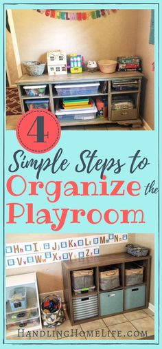 Playroom Organization: How to Organize & Declutter Kids' Playroom How to organize a playroom. DIY playroom organization ideas for kids' toys and play areas. Organisation Hacks, Playroom Organization, Playroom Ideas, Daycare Storage, Organized Playroom, Lego Storage, Organizing Your Home, Organizing Ideas, Organization Ideas For Toys