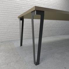 V Shape Metal Table Legs — Modcraft Australia Wood And Metal Desk, Metal Desk Legs, Metal Furniture Legs, Steel Table Legs, Metal Desks, Metal Leg Dining Table, Industrial Table Legs, Modern Table Legs, Dining Room Table