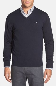 Men's Victorinox Swiss Army 'Signature' Tailored Fit V-Neck Sweater