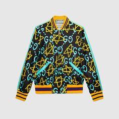 GUCCI Guccighost Silk Bomber. #gucci #cloth #men's coats & outerwear