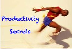 Implementing these 16 Productivity Secrets will allow you to be more efficient in your business...