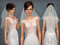 WEDDING VEIL 04 by BEO - Sims 3 Downloads CC Caboodle