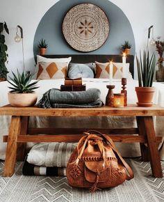 Home bedroom boho bohemian interior 39 Ideas for 2019 Home Decor Bedroom, Interior Design Living Room, Living Room Decor, Bedroom Colors, Bedroom Furniture, Bedroom Rustic, Bedroom Ideas, Bedroom Neutral, Wooden Bedroom
