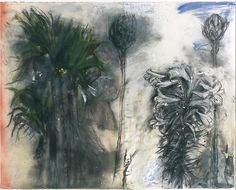 Jim Dine The Issue of Spring, 2004 Charcoal, pastel, gesso and scrylic on paper 47 x 60 inches Plant Drawing, Painting & Drawing, Jim Dine, Still Life Drawing, Expressive Art, European Paintings, Famous Art, Natural Forms, Natural Structures