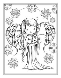 From the coloring book Whimsical Winter Wonderland by Molly Harrison