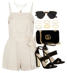 A fashion look from August 2017 featuring Alice + Olivia rompers, Carvela Kurt Geiger sandals and Gucci shoulder bags. Browse and shop related looks. Teen Fashion Outfits, Kpop Outfits, Classy Outfits, Look Fashion, Pretty Outfits, Stylish Outfits, Korean Fashion, Cute Outfits, Womens Fashion