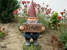 Grumpy Garden Gnome, I need this to ward off mosquitos and noisy neighbors!