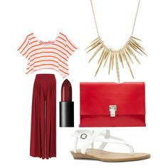 summer outfit | casual chic by me on Polyvore featuring polyvore moda style Rebecca Minkoff Blowfish Proenza Schouler Alexis Bittar NARS Cosmetics