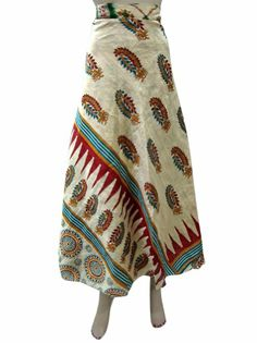 Amazon.com: Boho Multi Wear Skirt Printed Vintage Sari Reversible Wrap Around Skirts Dress: Clothing