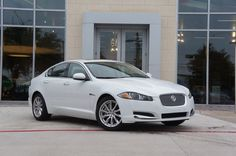 2012 Jaguar XF Sedan in Polaris White at Park Place Jaguar Dallas