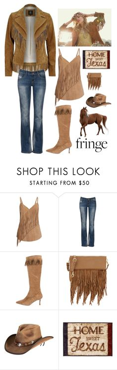 """Country Girl Fashion"" by kotnourka ❤ liked on Polyvore featuring Vanessa Mooney, River Island, Gestuz, Manolo Blahnik, Elizabeth and James, Overland Sheepskin Co., Avanti and country"