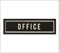 Framed Office Sign | Pottery Barn  (DIY this)