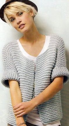 Free Autumn Knitting Patterns : Free knitting pattern for a cardigan that will be a great beginner knitting project. Find more free knitting patterns on this website. Easy Knitting, Knitting For Beginners, Loom Knitting, Knitting Stitches, Knitting Patterns Free, Knit Patterns, Free Pattern, Creative Knitting, Easy Patterns