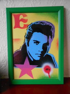 framed painting of elvis presley on by AbstractGraffitiShop, $40.00