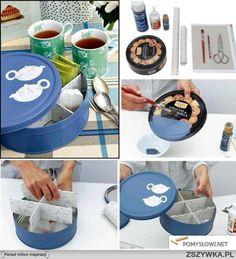 Idealny pomysł na pudełko na herbatę lub kawę w torebkach :)